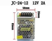 50 шт./упак. переключатель Питание драйвер Трансформаторы DC12V 2A 24 Вт для Светодиодные ленты свет