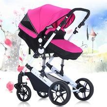 2016 New Fashion Pushchair Baby Srollers,Protable Pram Baby Stroller for Newborn Infants,Folding Baby Travel System Sleeping Car
