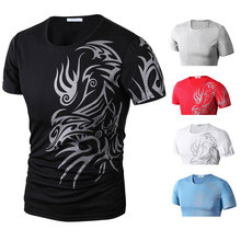Fashion Droppshiping Summer Men T-Shirt Short Sleeve O Neck Chinese Style Printing Tops Comfortable Man Casual T-Shirts