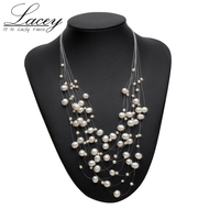 Real Natural Freshwater Pearl Necklace Jewelry Wedding For Women Fashion Pearl Christmas Necklace Bridal Jewelry Multi