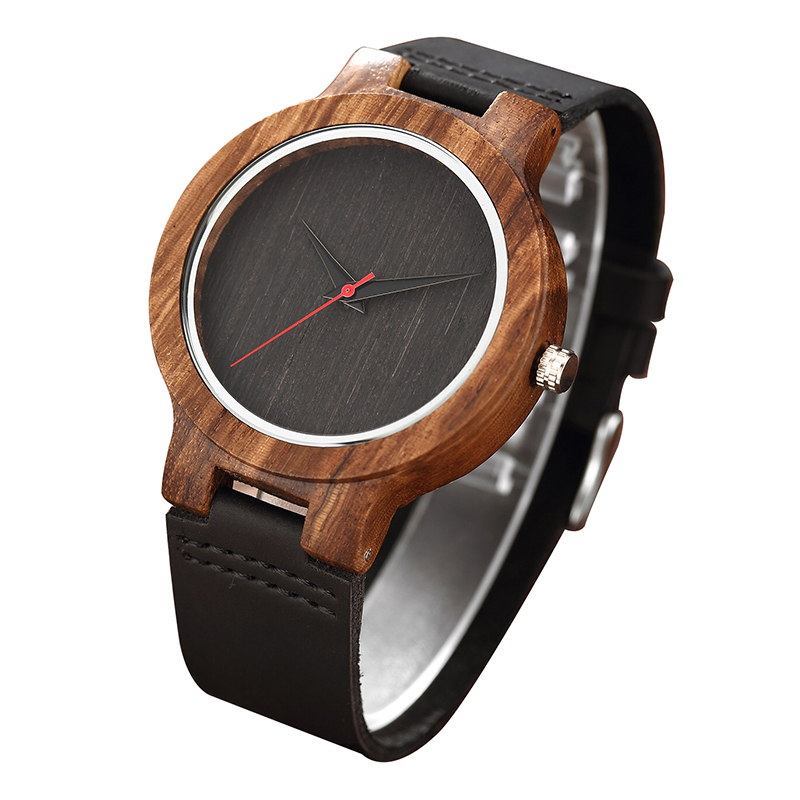 Simple Creative Wooden Watch 2018 Nature Bamboo Men Quartz Wristwatches Unique Hand-made Analog Top Luxury Sport Wood Clock New yisuya creative fashion full bamboo triangular quartz wrist watch men simple unique novel analog hollow bangle nature wood clock