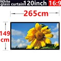 2016 new aarive 120 Inches 16:9 White glass curtain Projector Screen Suitable for HD 3D LED Smart Movie home theater Projector