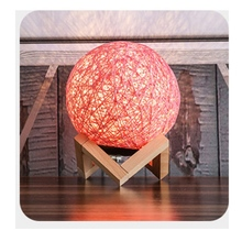 3D LED Night Light Rattan Moon Moonlight Romance Table Moon Lamp With Stand Desk Colorful Lamp Party Home Decoration Accessories aucd colorful 3d magical moon led night light moonlight desk table lamp usb rechargeable for home decoration christmas gift 267