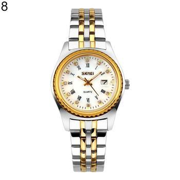 Números romanos Rhinestone cuarzo Unisex Acero inoxidable banda reloj  mujeres hombres pulsera de lujo dropshipping 2018 0c9844000b35