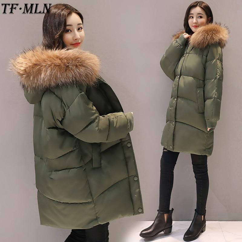 Winter Jacket Women Parka 2017 Cotton Wadded Jackets Women Parkas Long Hooded Down Cotton Jacket Padded Outwear Thicken Coat цены онлайн