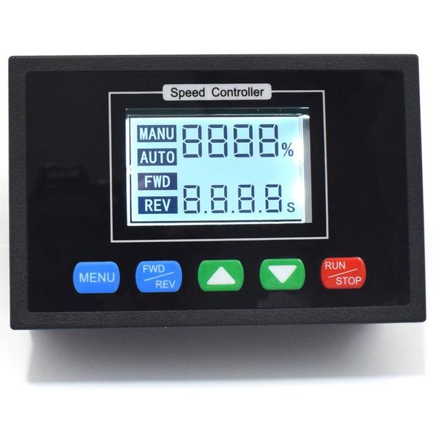 شاشة ديجيتال 0 ~ 100% قابل للتعديل تيار مستمر 12 فولت 24 فولت 36 فولت 48 فولت 40A PWM وحدة تحكم في سرعة محرك التيار المستمر توقيت تحكم عكسها