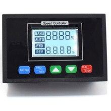 Pantalla Digital ajustable de 0a 100%, regulador de la sincronización Reversible, 24V DC 12V 36V 48V 40A PWM controlador de velocidad del Motor de CC
