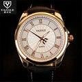 Nova Listagem Yazole Cintos de Couro Homens Relógio De Luxo Relógios de Quartzo Relógio de Moda Relógio Barato relógio de Pulso Esportes Relogio Masculino C96
