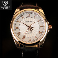 New Listing Yazole Men Watch Luxury Watches Quartz Clock Fashion Leather Belts Watch Cheap Sports Wristwatch