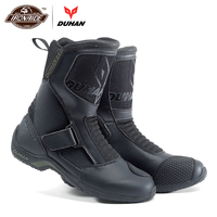 DUHAN Motorcycle Boots Men Motocross Boots Motorcycle Shoes Motorcycle Road Racing Bota Motociclista Moto Riding Boots