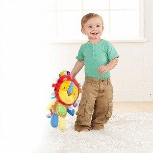 Image 2 - 8 stilleri bebek oyuncakları çıngıraklar pasifize bebek peluş bebek çıngıraklar oyuncaklar hayvan el Bells yenidoğan hayvan fil/maymun/aslan /tavşan
