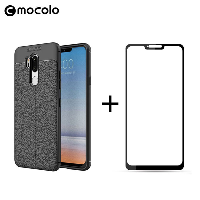 02f8061616a For LG G7 Case 6.1 inch Luxury Ultra-Thin Shockproof Soft TPU Leather Phone  Cases For LG G7 Coque Fundas with a Tempered Glass