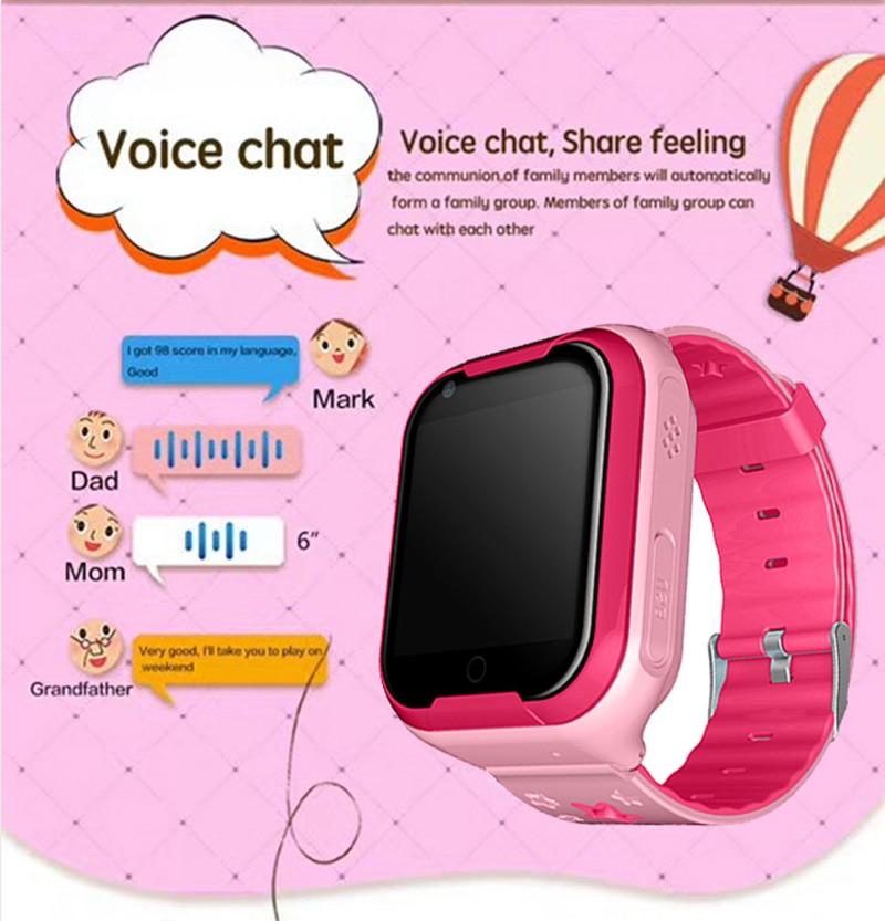 Bambini Orologio Intelligente 4G 1.54 'Touch Screen GPS Bambini Della Vigilanza SOS di Chiamata Monitor Posizione Tracker di Supporto Chat Vocale bambino Intelligente Orologio Da Polso - 5