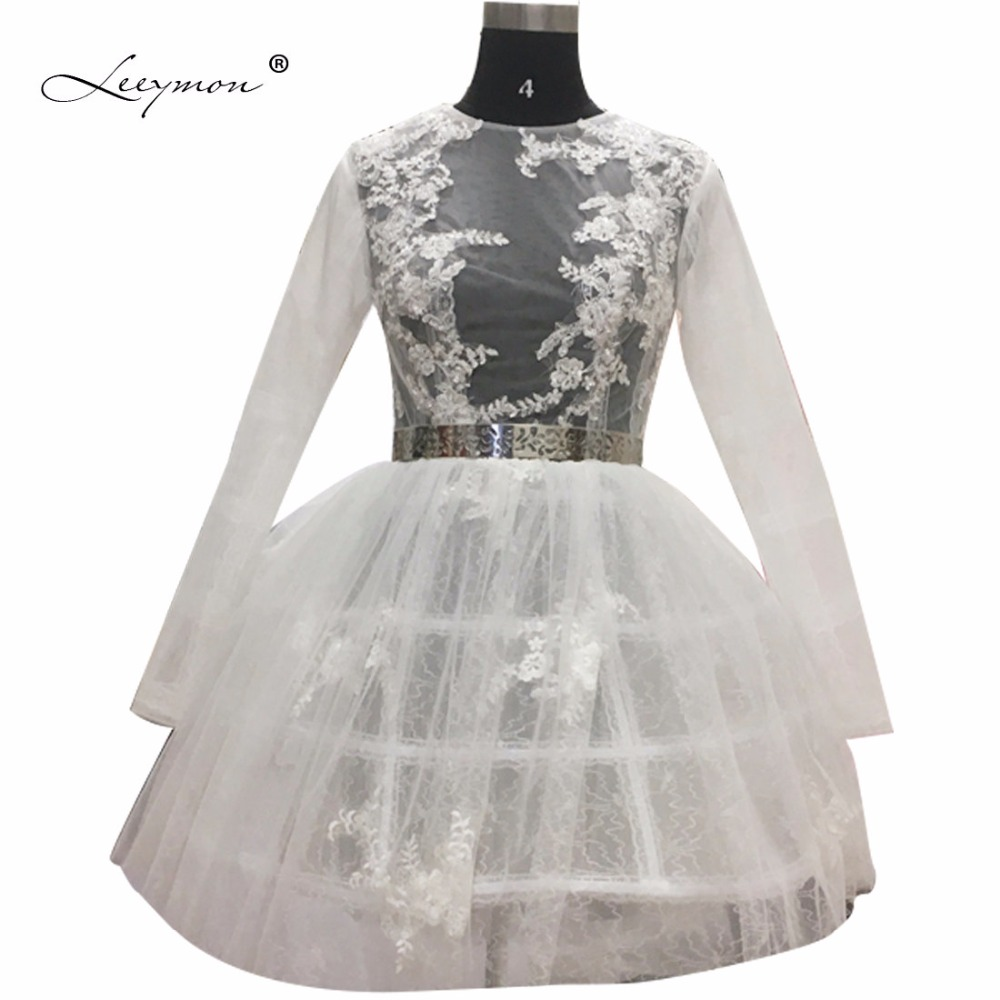 Long Sleeves Lace   Cocktail     Dress   2019 Sexy See Through Ball Gown Mini Short White Lace   Cocktail     Dress   Vestidos De Coctel CC02