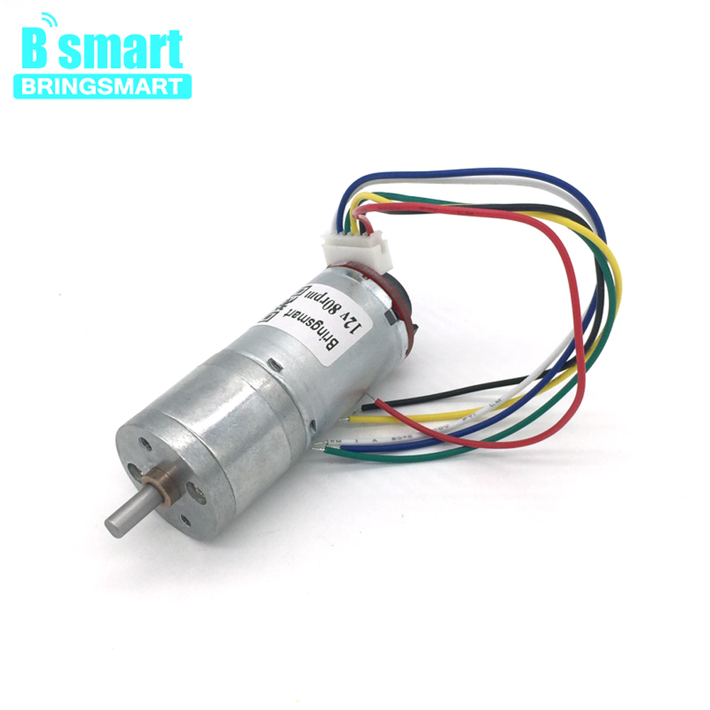 JGA25-371 12V DC Gear Motor Encoder 18-1930RPM Support CW CCW Reversed Speed Control Electric Motor For DIY Electronic equipment