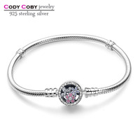 CODY COBY 925 Sterling Silver Poetic Blooms Bracelets Bangles For Women Fit DIY Charms Beads Original