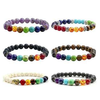 7 Chakra Healing Lava Bracelet4