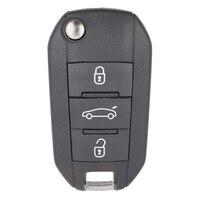 New Flip Remote Car Key Fob 3B 433MHz ID46 For Peugeot 208 308 508 3008 5008