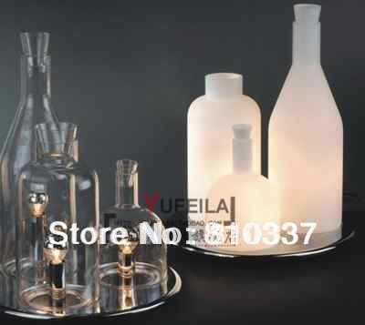 3ヘッドボトルライト新しいモダンデザイン現代ボトルテーブルランプデスク照明ランプライトホワイトFG804 -