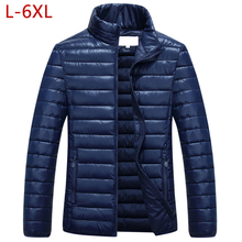 L-6XL Plus Size Dikker Baggy Jas Mannen Katoen Casual Winter Warm Parka Windbreaker Uitloper Coat Bomber Streetwear Varsity 5XL(China)