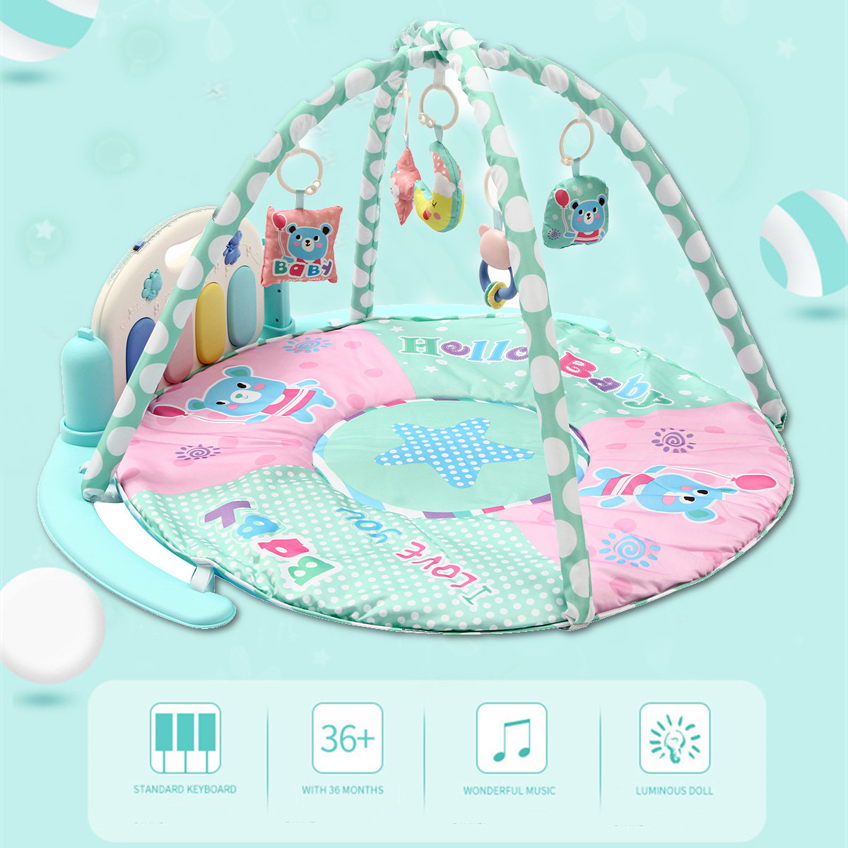 Infant Game Blanket Early Education Music Fitness Rack Newborn Mat Remote Control Pedal Piano Baby Gym Activity Pedal Piano Toy хорхе болетт jorge bolet liszt piano music 9 cd