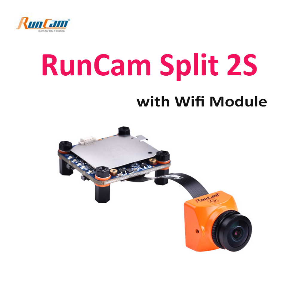 RunCam Split 2S 1080P@60fps HD recording & WDR 16:9 / 4:3 FPV mini Camera NTSC/PAL Switchable w/ Wifi module for RC FPV DroneRunCam Split 2S 1080P@60fps HD recording & WDR 16:9 / 4:3 FPV mini Camera NTSC/PAL Switchable w/ Wifi module for RC FPV Drone
