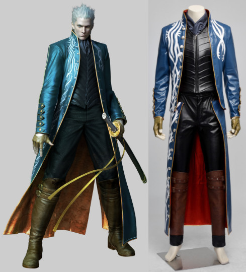 Devil May Cry 3 Vergil cosplay halloween costumes