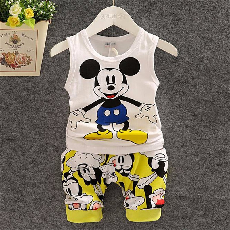 2016-New-Cartoon-Summer-Baby-Boy-Clothing-Set-Tank-Top-Shorts-Kid-Boy-Summer-Set-Children (1)
