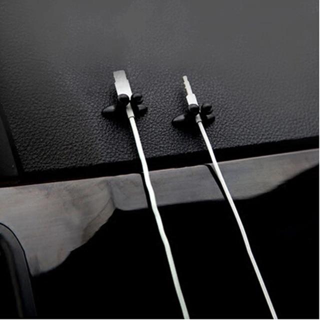 8 PCS Car Charger สาย Clamp Clamp หูฟัง/USB Cable Car Clip สำหรับ Skoda Rapid Octavia A2 A5 ฿ a7 Yeti Fabia Scout kodiaq