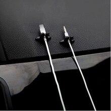 8 PCS רכב מטען קו מהדק מהדק אוזניות/USB כבל לרכב קליפ עבור סקודה אוקטביה ראפיד A2 A5 RS a7 Yeti פאביה סקאוט kodiaq