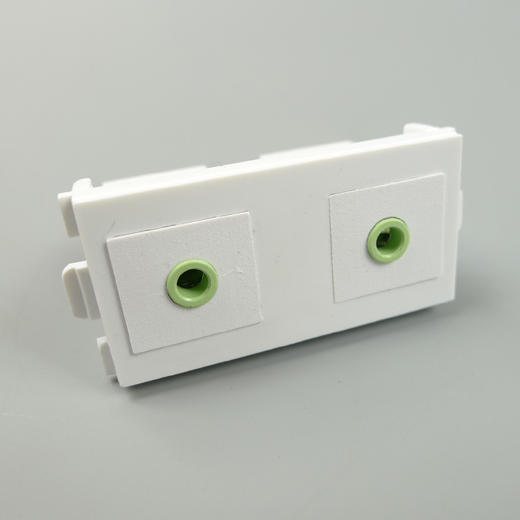 ⊱dual 3 5mm Stereo Audio Connector ᐊ Wall Wall Plate Us270