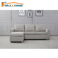 China Home Furniture Modern Leather Scandinavian Sofa Love Seat Chair Living Room Furniture Set Down Feather Fabric Sofa Bed