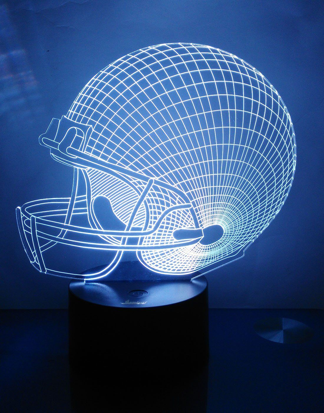 Lamp Night Nightlight Football Helmet Desk Lamp With 7 Colors 3D Glow Led Lamp Home Decor Usb Cable