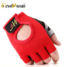 2019 New Fashion Sport gloves Half-finger mittens fingerless men women glove Exercise half finger luva fitness male guantes