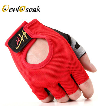 2019 New Fashion Sport gloves Half-finger mittens fingerless men women glove Exercise half finger luva fitness male guantes