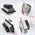 12 V 120 W Peltier de refrigeração eletrônico Semicondutor Pequeno Espaço de ar condicionado ventilador do radiador de Alumínio de refrigeração de água Fria
