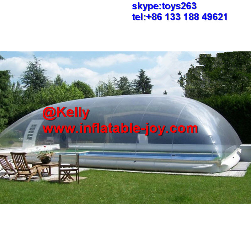 US $1600.0 |free door shipping 10x6x3mH transparent inflatable pool cover  tent, big inflatable swimming pool cover clear bubble tent-in Inflatable ...