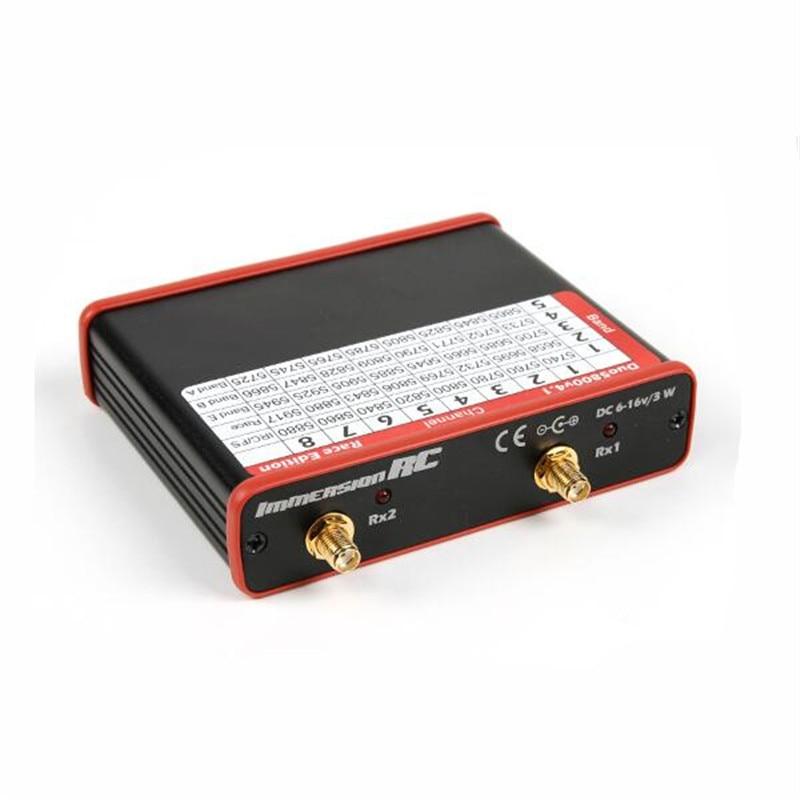 Новый immersionrc IRC FPV-системы DUO5800 40ch 5.8 ГГц V4.1 расы издание для raceband двойной Выход AV-ресивера получения высокое качество