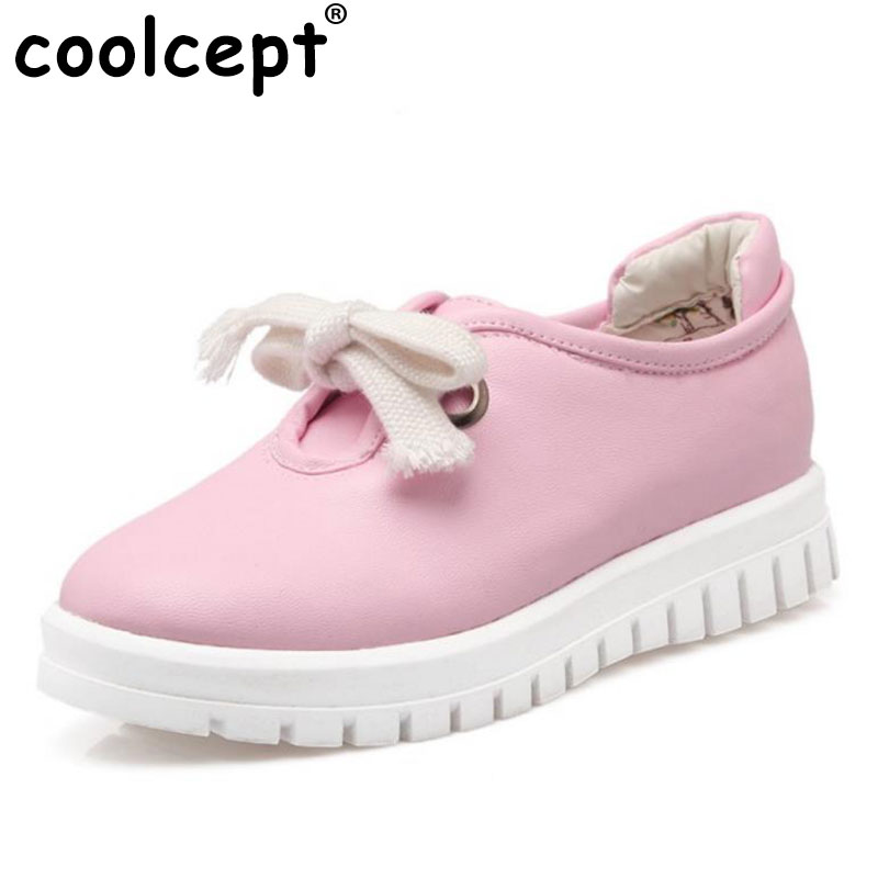 Coolcept Fashion High Quality Vintage Women Flat Shoes Women Flats And Women's Spring Summer Autumn Shoes Size 34-43 dreamshining new fashion women colorful flat shoes women s flats womens high quality lazy shoes spring summer shoes size eu35 40