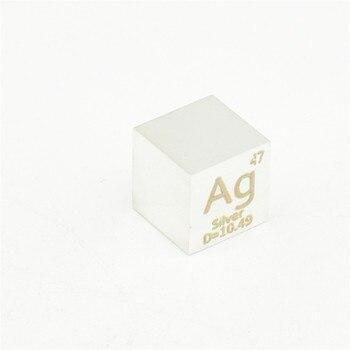 Silver Argentum Metal Cube Ag Elements Metal Element Collection Hobbies Science Experiment 10x10x10mm Density Development