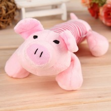 New Cute Dog Toys Pet Puppy Chew Squeaker Squeaky Plush Sound Duck Pig & Elephant Toys 3 Animal Shape Design Toys Products