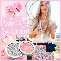 Mi Moneda Silver Chain And Pendants With Rumba Crystal And Roca Pink Coins Fashion Pendant Necklaces