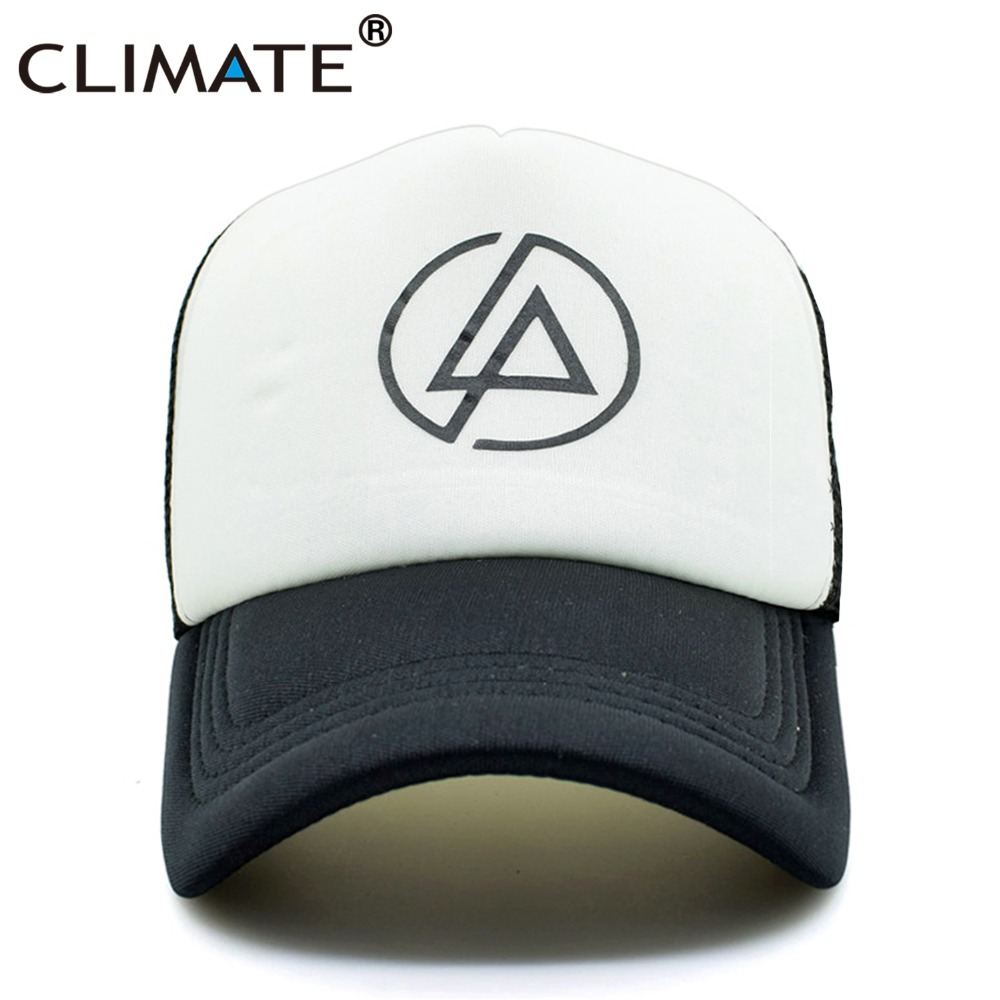 CLIMATE Linkin Park Chester Rock Band Summer Cool Trucker Cap Rock' N' Roll' Music Fans Cool Baseball Mesh Net Trucker Caps Hat climate men women summer cool mesh cap remix music dj hardwell on air fans cool baseball mesh summer net trucker caps hat fans