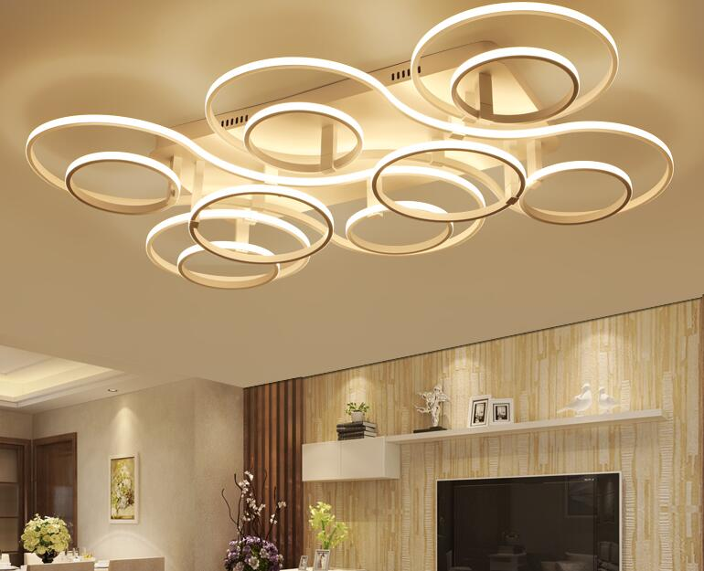 simple ceiling lights LED living room lamp warm romantic bedroom lamp creative personality study rectangular lamps