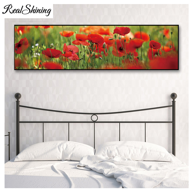 5D Diy Diamond Embroidery,Poppy flowers,Full drill Square/Round,Rhinestone,5D,Large DIY Painting,Cross Stitch,FS3844