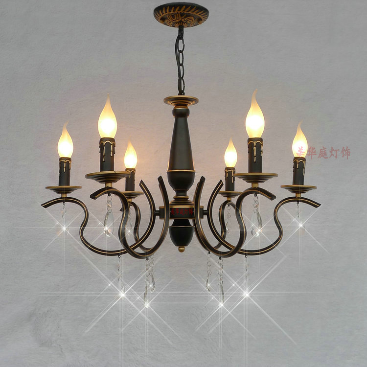 HGHomeart European Chandelier Bedroom Lamp Lighting Fixtures Living Room Modern Minimalist Lights Restaurant Lights Crystal Lamp