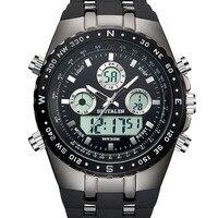 SPOTALENยี่ห้อชายกีฬานาฬิกาผู้ชายควอตซ์มัลติฟังก์ชั่ทหารนาฬิกาอนาล็อกดิจิตอลนาฬิกาข้อมือกั...