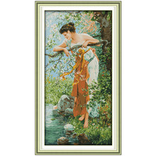 14/16/18/27/28 The Charm of Spring Counted Cross Stitch Chinese Cross Stitch Kits for Embroidery Home Decor(China)