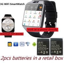 3G WIFI Smart Watch 512MB/4GB w/Facebook/Twitter/WhatsApp Bluetooth 4.0 Smartwatch w/ Camera Pedometer SIM Card Phone Call
