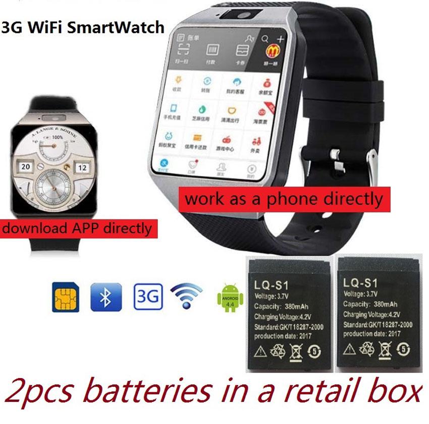 3G WIFI Smart Watch 4GB ROM w Facebook Twitter WhatsApp Bluetooth Smartwatch 2 0 Camera Pedometer